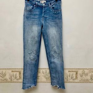 H&M Coachella High Rise  Button Fly Skinny Jeans